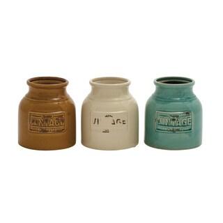 Ceramic Cutlery Jar Set (Set of 3)