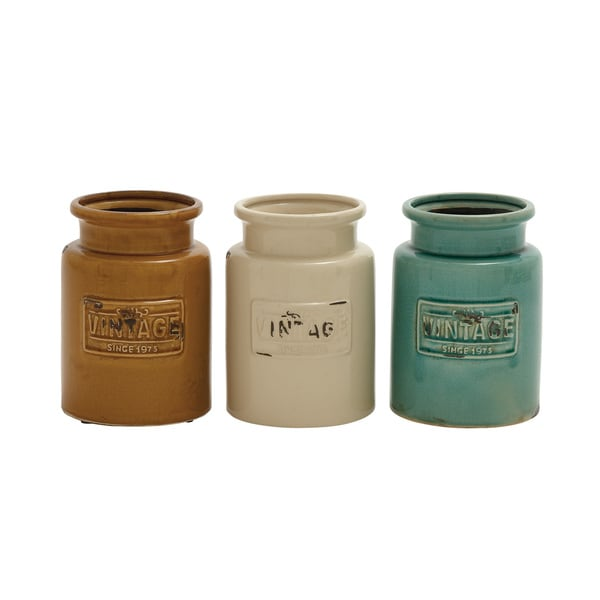Ceramic Kitchen Jars (Set of 3)