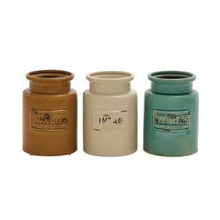 Ceramic Kitchen Jars (Set of 3)