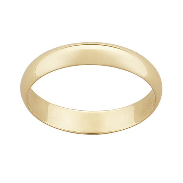 10k Yellow Gold 4mm Classic Wedding Ring