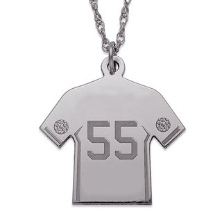 Sterling Silver Personalized Soccer Jersey Necklace