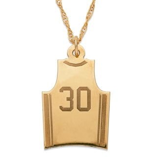 Gold over Sterling Personalized Basketball Sweater Necklace