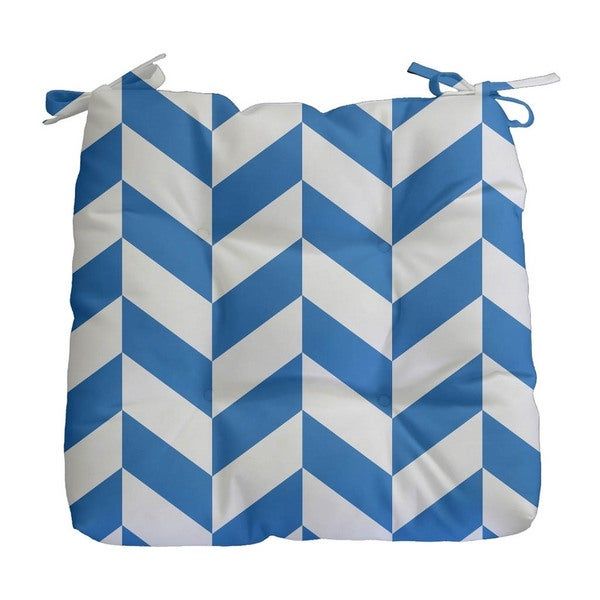 Geometric Mixed Stripe Print Outdoor Seat Cushion