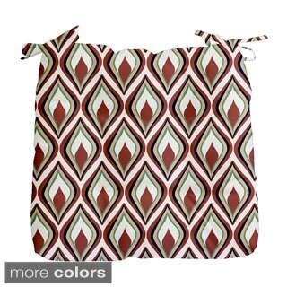 Abstract Diamond Geometric Print Outdoor Seat Cushion