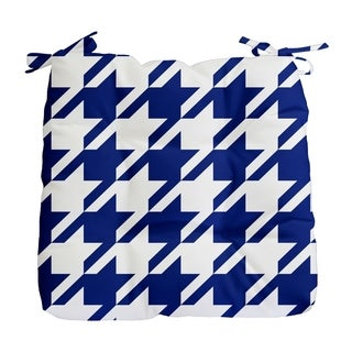 Geometric Houndstooth Print Outdoor Seat Cushion