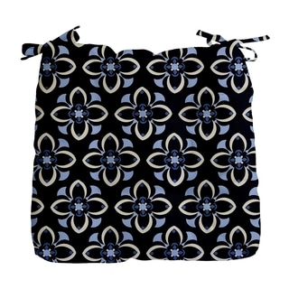 Geometric Floral Print Outdoor Seat Cushion