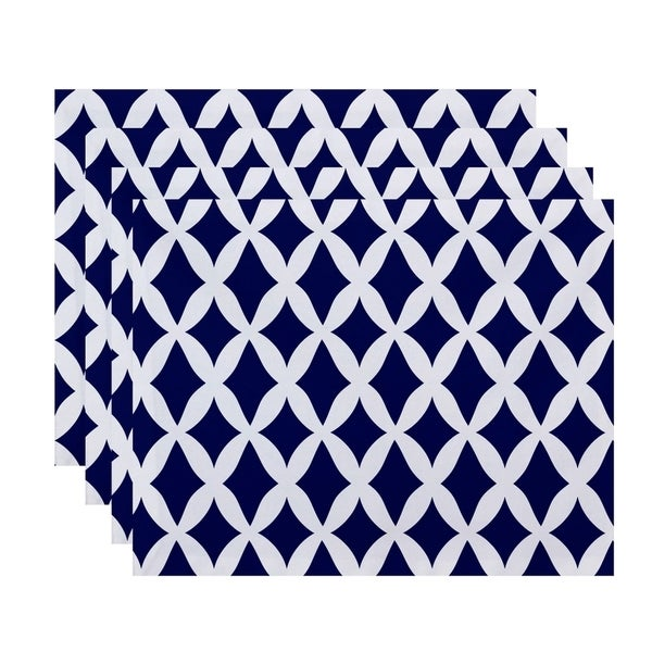 Geometric Lattice Print Table Top Placement
