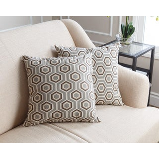 Abbyson Living Dylan Pillow Collection 18-inch Grey Pattern Throw Pillows (Set of 2)