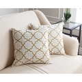 Abbyson Living Aubrey Pillow Collection 18-inch Gold Lattice Throw Pillows (Set of 2)