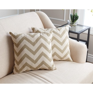 Abbyson Living Jay Pillow Collection 18-inch Gold Chevron Throw Pillows (Set of 2)