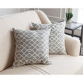 Abbyson Living Suzanna Pillow Collection 18-inch Grey Swirls Throw Pillows (Set of 2)