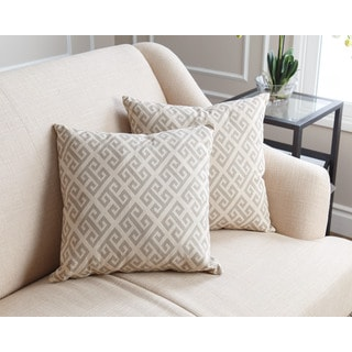 Abbyson Living Teddi Pillow Collection 18-inch Grey Pattern Throw Pillows (Set of 2)