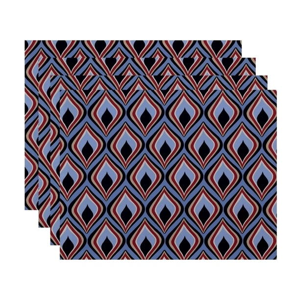 Abstract Diamond Geometric Print Table Top Placement