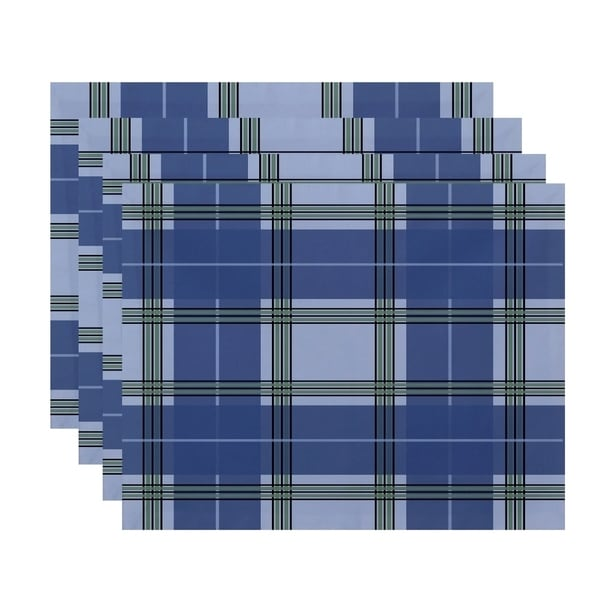 Geometric Plaid Print Table Top Placemat (Set of 4) 15520670