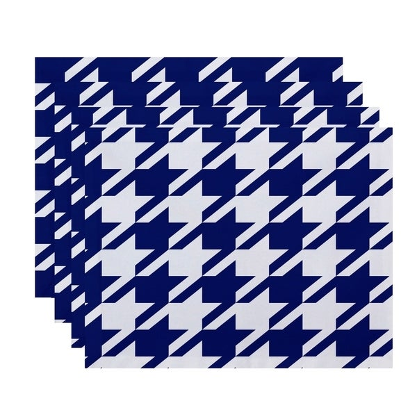 Geometric Houndstooth Print Table Top Placement