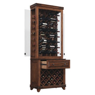 Bell'O CC30-20160X332B Mayfield Freestanding 14 Bottle Lower Cherry Finished Wine Cabinet