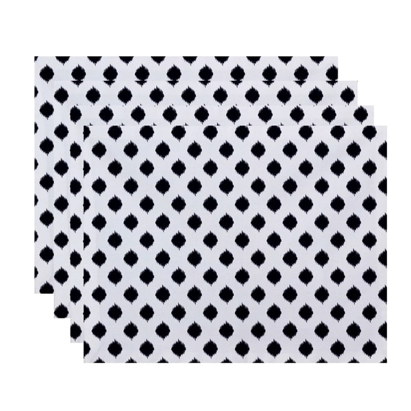 Static Polka-dot Geometric Print Table Top Placement