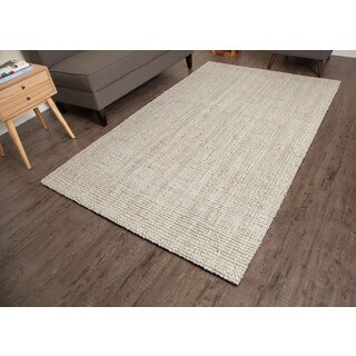 Jani Andes Ivory Jute Handwoven Rug (8'x 10')
