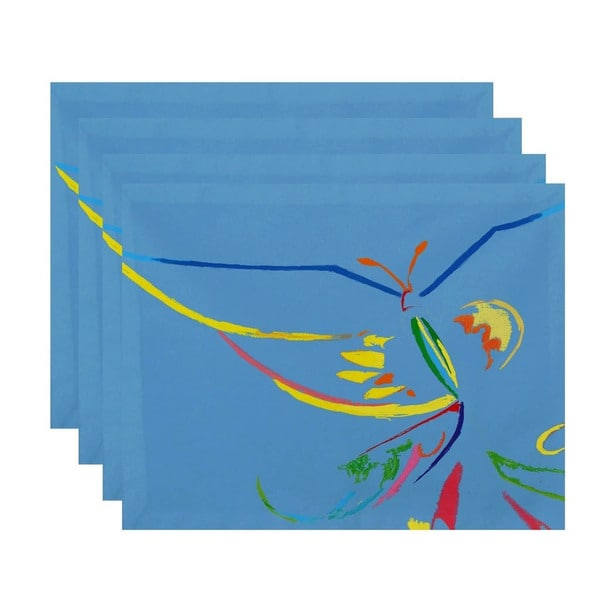 Abstract Butterfly Print Table Top Placement