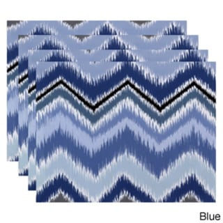 Tribal Chevron Stripe Print Table Top Placement
