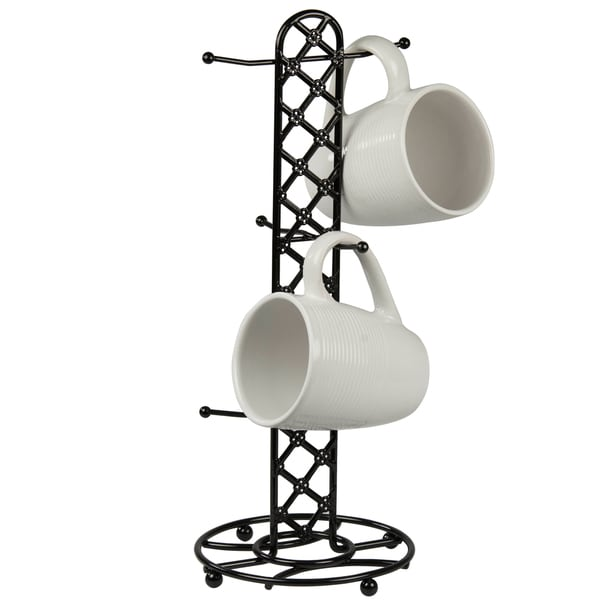 Black Lattice Tree Mug Holder