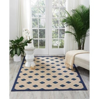 Nourison Aloha Indoor/Outdoor Navy Rug (9'6 x 13')