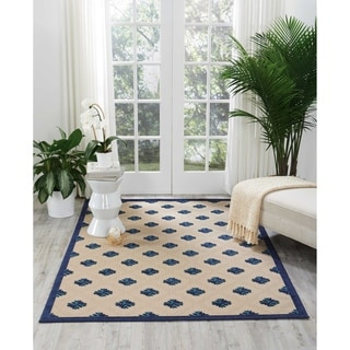 Nourison Aloha Indoor/Outdoor Navy Rug (7'10 x 10'6)
