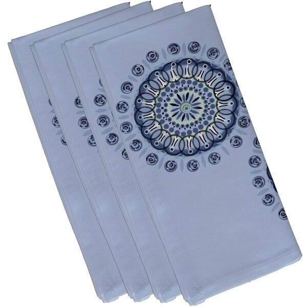 Geometric Dual Spiral Burst Print 10-inch Table Top Napkin