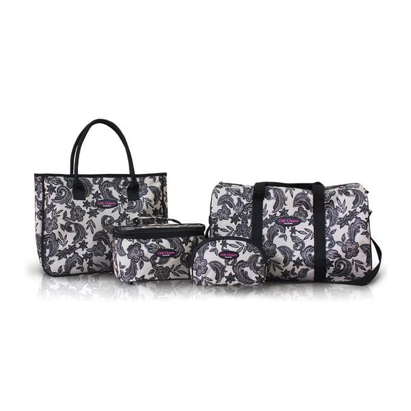 Jacki Design Black 4-piece mixed size Travel Bag Set