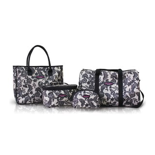 Jacki Design Black 4-piece mixed size Travel Bag Set