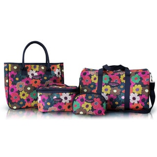 Jacki Design Floral 4-piece Travel Bag Set