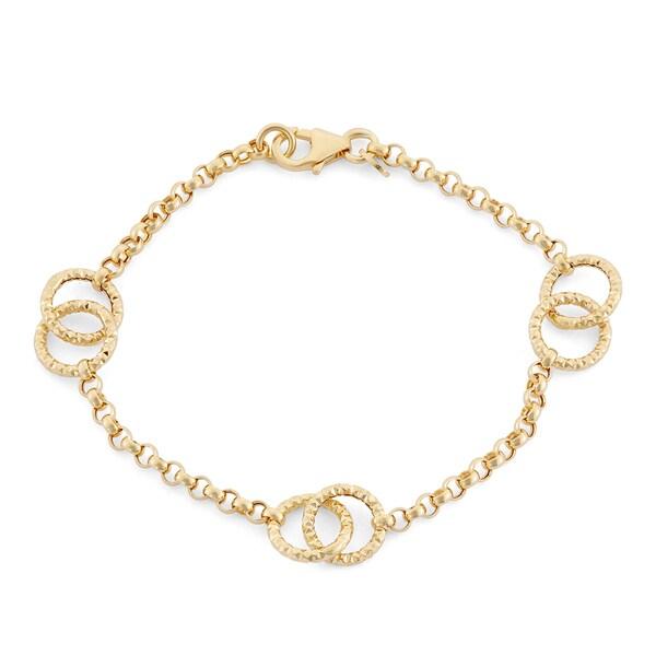 14k Yellow Gold Loop Link Bracelet