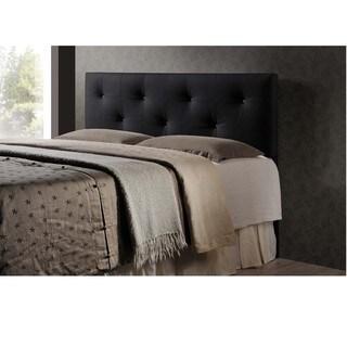 Baxton Studio Kirchem Black Modern Upholstered Headboard-King Size