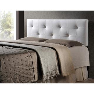 Baxton Studio Kirchem White Modern Upholstered Headboard-King Size