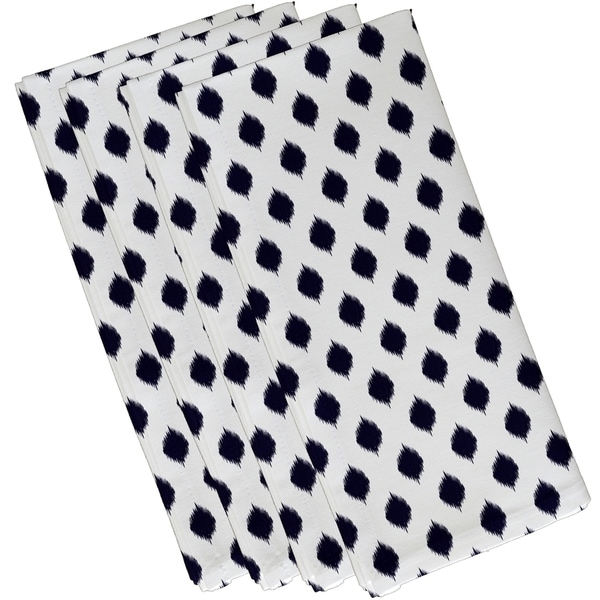 Geometric Static Polka-dot Print 10-inch Table Top Napkin