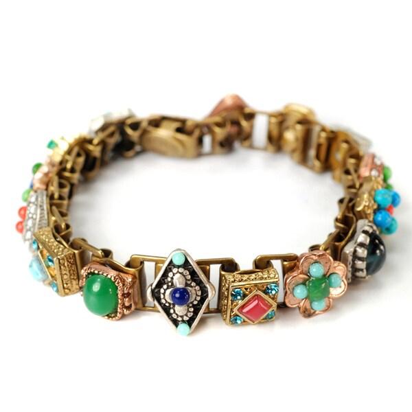 Sweet Romance Pewter Desert Gypsy Link Bracelet