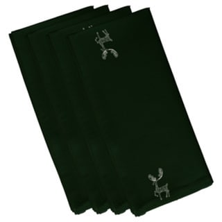 Reindeer Holiday Print 22-inch Table Top Napkin