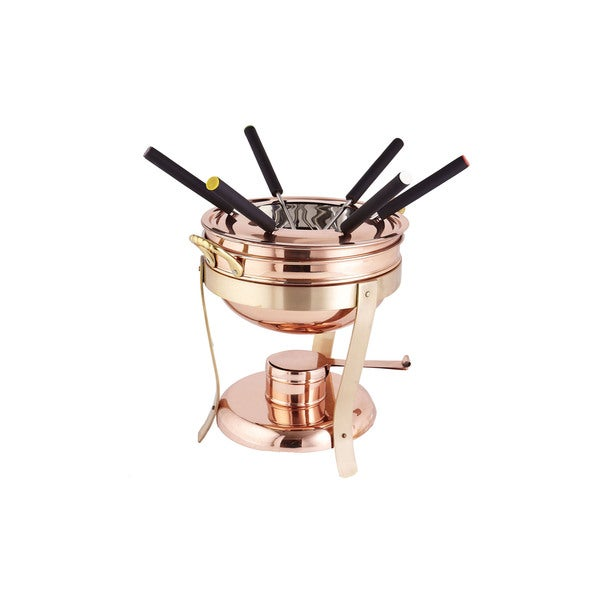 Dcor Copper and Brass Fondue Set