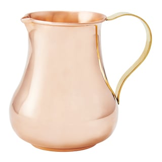 Solid Copper 24-ounce Pitcher with Brass Handle