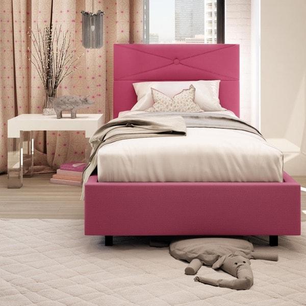 Safavieh Winslet Light Beige Linen Upholstered Tufted Wingback Bed