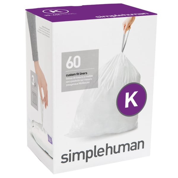 Simplehuman 20-count 9-12 Gallon Code K Custom Fit Trash Can Liners (Pack of 3)