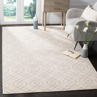 Safavieh Indoor/ Outdoor Amherst Ivory/ Light Grey Rug (5' x 8')