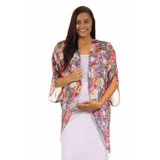 24/7 Comfort Apparel Women's Vibrant Classic Maternity Layering Shrug