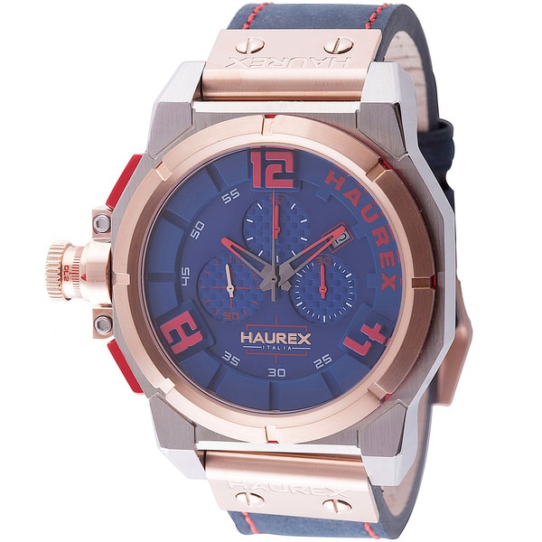 Haurex Italy Mens space chrono blue Watch