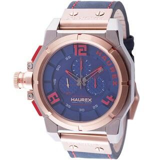 Haurex Italy Mens space chrono blue Watch