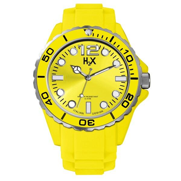 Haurex H2X Mens Reef Yellow Watch