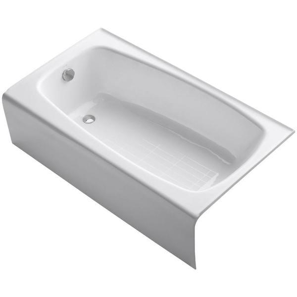 Seaforth 4.5 Foot Left-hand Drain Cast Iron Alcove Bathtub