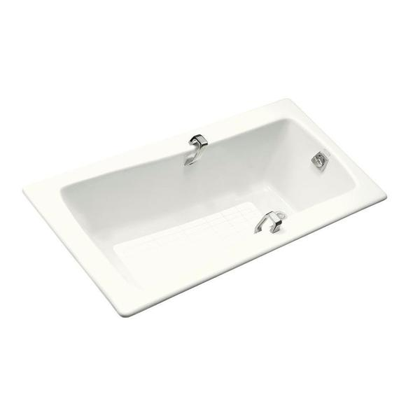 kohler maestro 5 5 foot reversible drain cast iron with grip rail