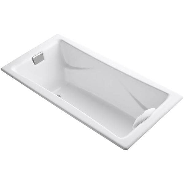 Kohler Tea-For-Two 6 Foot Bath with Reversible Drain in White