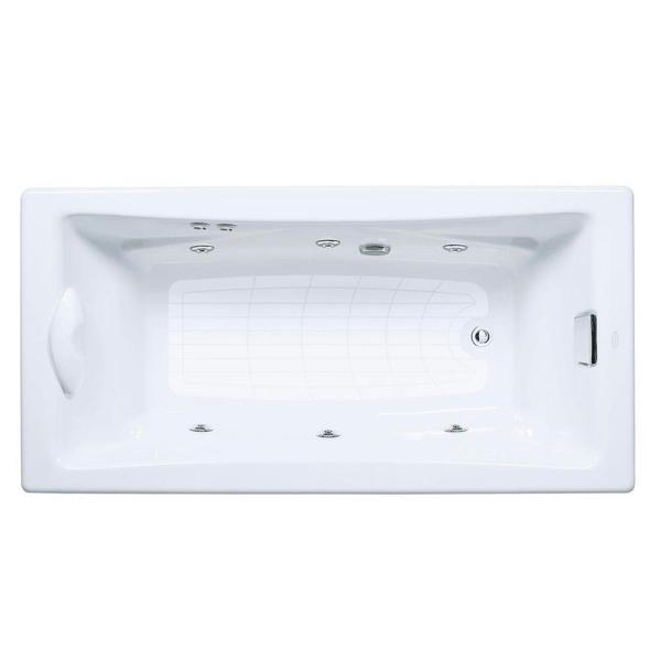 Kohler Tea-For-Two 6 Foot Whirlpool Tub with Reversible Drain in White